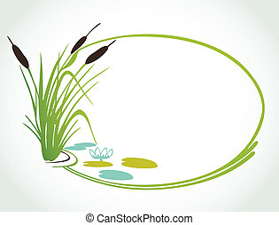 Background with cane. Vector ilustration - Background with...