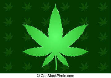 Background with cannabis leaf