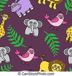 background with Cartoon animals