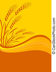 background with cereal crop