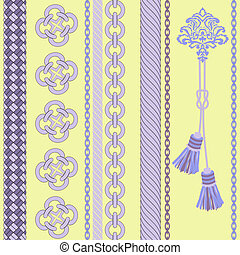 Background With chain , Rope,Tassel. - Seamless...