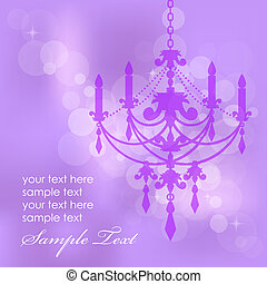background with chandelier