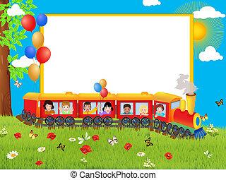 Background with children