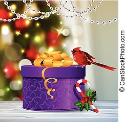 Background with Christmas ball