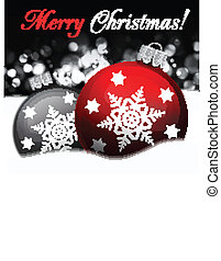 Background with Christmas balls, illustration