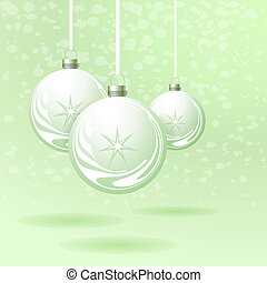 Background with Christmas balls. Vector