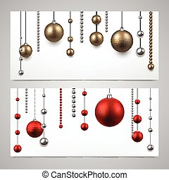Background with christmas baubles.