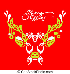 Background with Christmas deer