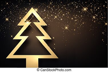 Background with Christmas tree.