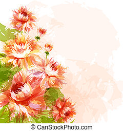 Background with chrysanthemums