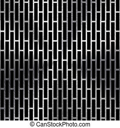 Technology background with metal texture (chrome, silver, stainless steel, iron) and seamless circular perforated pattern for web user interfaces (UI), applications (apps) and business presentations.