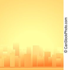 background with city and sunrise - urban background with ...