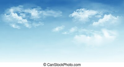 Background with clouds on blue sky
