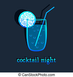 background with cocktail