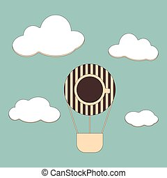 background with coffee and air balloons