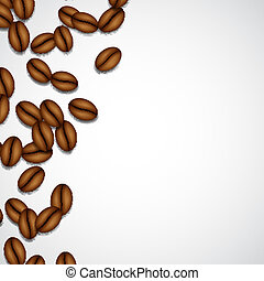 Background with coffee beans