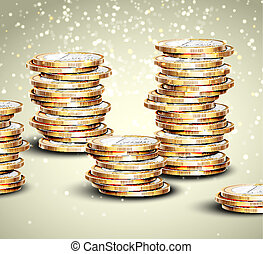 Background with coins