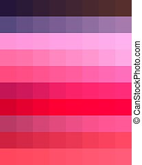 Background with color combinations a palette of pastel bright multi-colored gradient shades.Print for t shirts.Chart colors.Mood board.Brown violet purple pink red orange abstract geometric pattern .