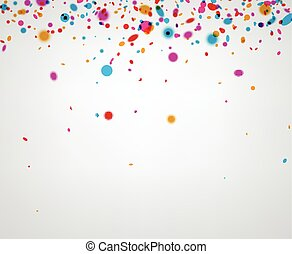 Background with color confetti.
