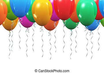Background with color inflatable air balloons