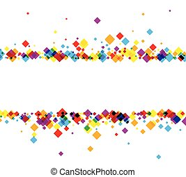 Background with color rhombs. - White background with color...