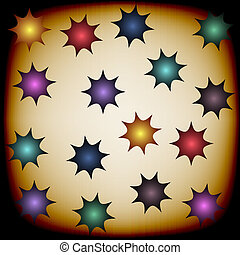 Background with color stars