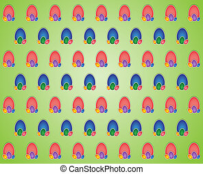 background with colored eggs
