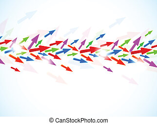 Background with colorful arrows