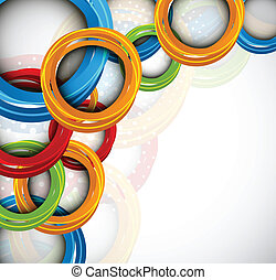 Background with colorful circles and dots - Bright...