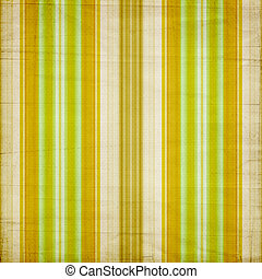 Background with colorful green, yellow and beige stripes