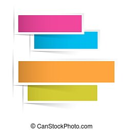 Background with Colorful Paper Sheets