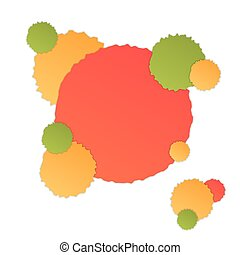 Background with colorful stains with shadow