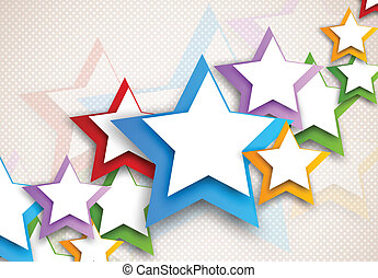Background with colorful stars. Abstract illustration
