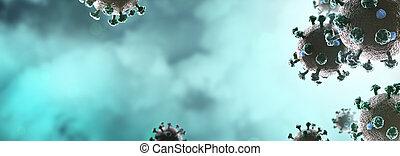 Background with coronavirus COVID-19 - Background panorama ...
