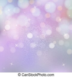 Background with crochet pattern and bokeh lights