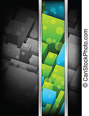 Background with cubes. Colorful illustration