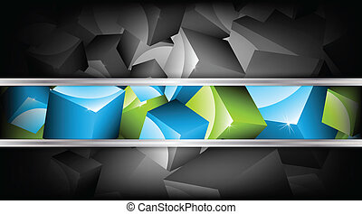 Background with cubes. Vector illustration