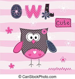 Background with cute owl