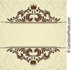 Background with damask pattern. Abstract illustration