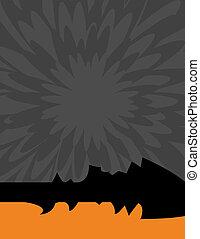 Background with Dandelion flower