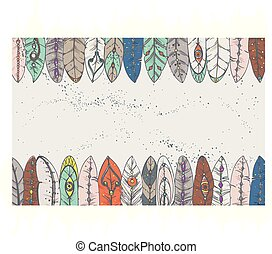 background with decorative feathers