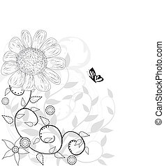 background with decorative flowers for design