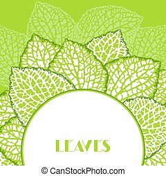Background with decorative leaves. Natural detailed...