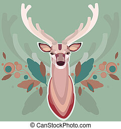 Background with deer
