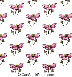 Background with delicate flowers. Background with wildflowers. Floral pattern.