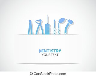 Background with dentistry tools