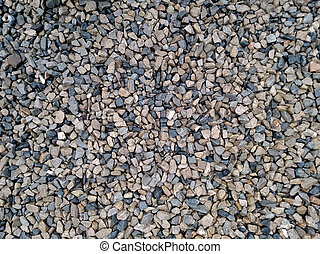 Background with different small sea pebble stones