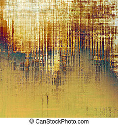 Background with dirty grunge texture, vintage style elements and different color patterns: yellow (beige); brown; blue; gray; purple (violet); white