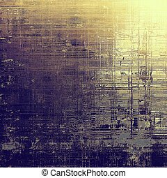 Background with dirty grunge texture, vintage style elements and different color patterns: yellow (beige); brown; gray; purple (violet); pink