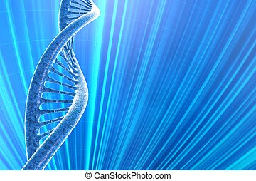 background with DNA molecule